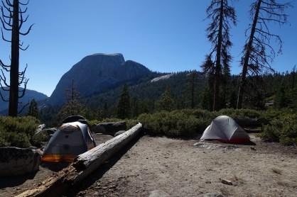 Campsite and Half Dome