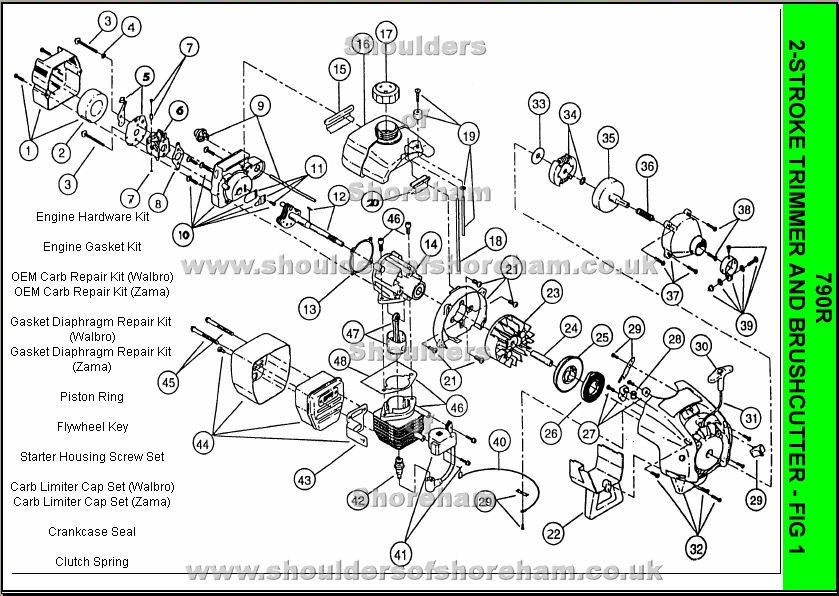 ryobi 31cc fuel line diagram evinrude key switch wiring 725r engine great installation of parts lookup beforebuying owner s manual