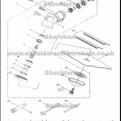 Qualcast Classic 35s Parts Diagram F250 Stereo Wiring 2004 Ford Radio And Ryobi Pbc 4243 5043 Spare Spares