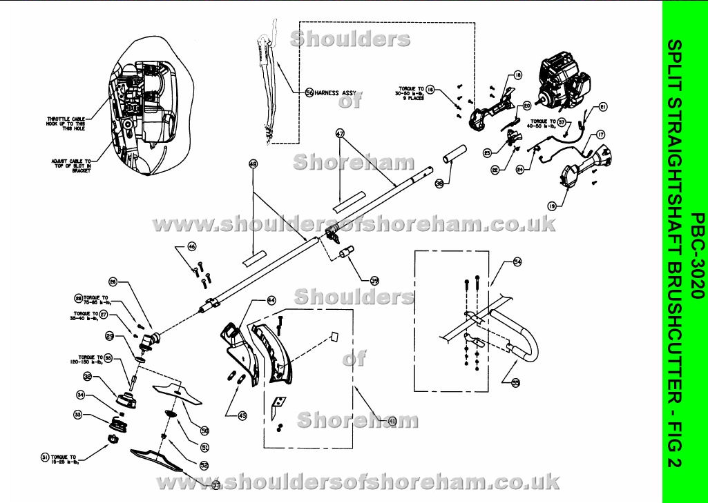 qualcast classic 35s parts diagram vw beetle coil wiring ryobi pbc 3020 petrol split straight shaft brushcutter spares and spare