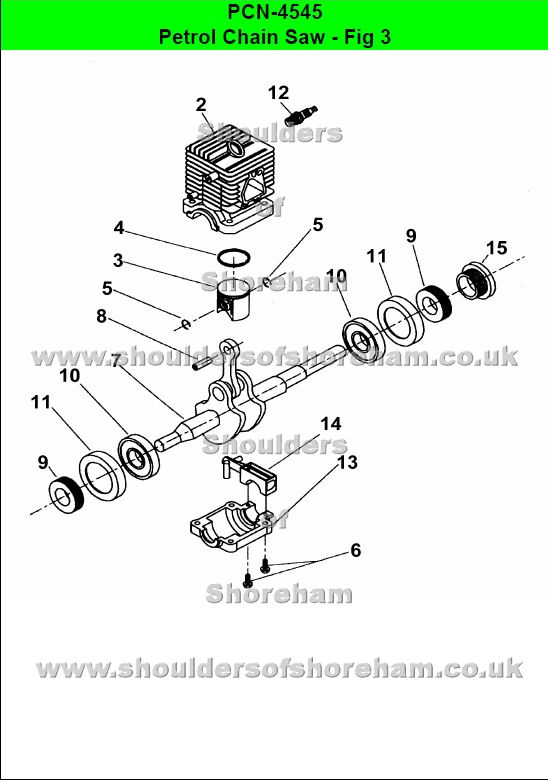 qualcast classic 35s parts diagram honeywell c plan wiring ryobi pcn 4545 petrol chain saw spares daigram and spare