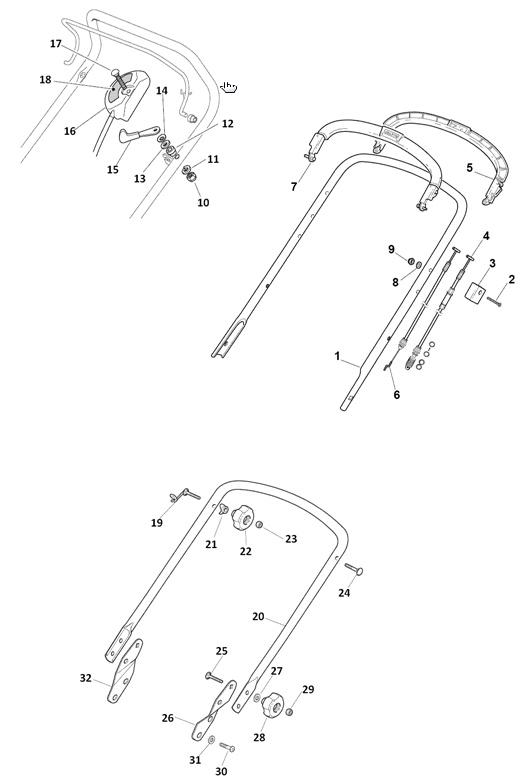 Mountfield SP474 Spares Parts Diagrams SP 474 SP 2010