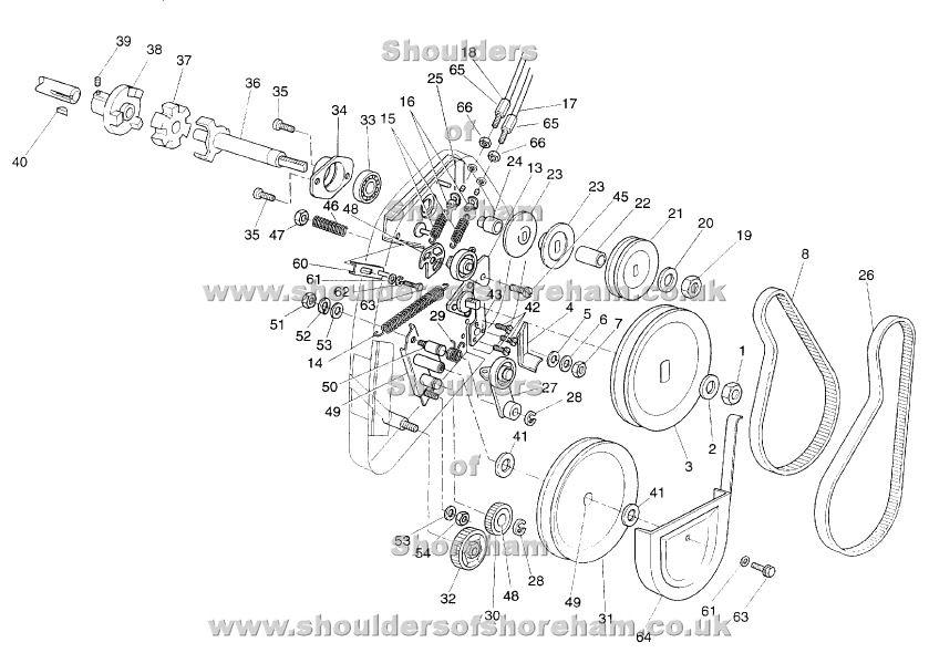 Qualcast Classic Petrol 35S Spares Diagram Serial Number