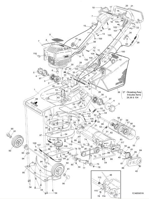 Hayter Harrier 48 Spares Spare Parts SERIAL CODE
