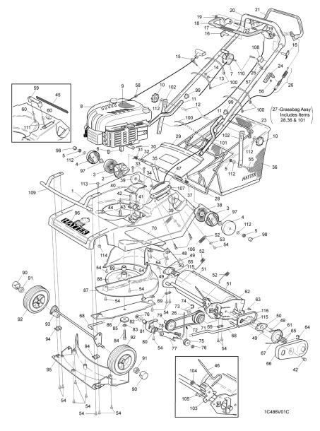 Hayter Harrier 48 SERIAL CODE 486V001001 Spare Parts