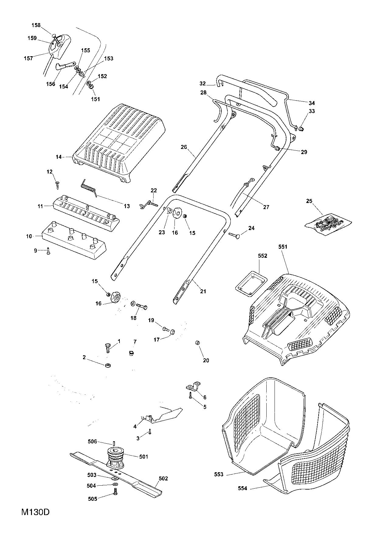 qualcast classic 35s parts diagram yamaha wiring diagrams mountfield 534 sp 2007 spare spares and