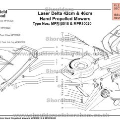 Qualcast Classic 35s Parts Diagram 2002 Nissan Sentra Gxe Radio Wiring Mpr10018 Mpr10020 Mountfield Laser Delta 42cm And 46cm