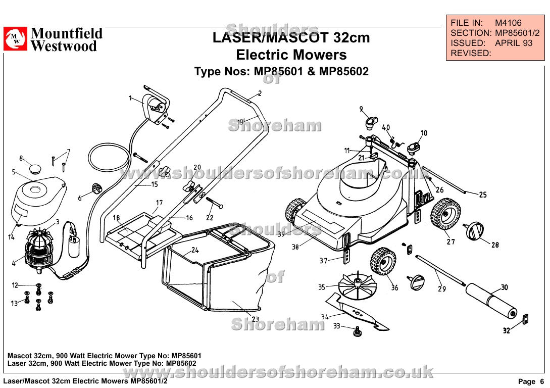 qualcast classic 35s parts diagram hino 300 wiring mp85601 mp85602 mountfield laser mascot 32cm electric