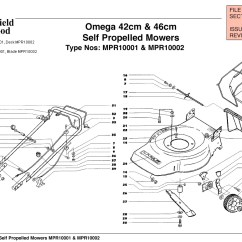 Qualcast Classic 35s Parts Diagram Curtis Snow Plow 3000 Wiring Mountfield Omega 42cm And 46cm Self Propelled Machine