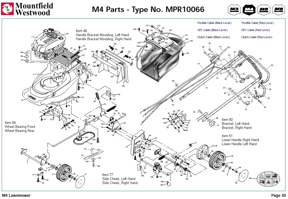 qualcast classic 35s parts diagram 1991 toyota pickup alternator wiring mpr10066 mountfield m4 pre 2002 machine for spare