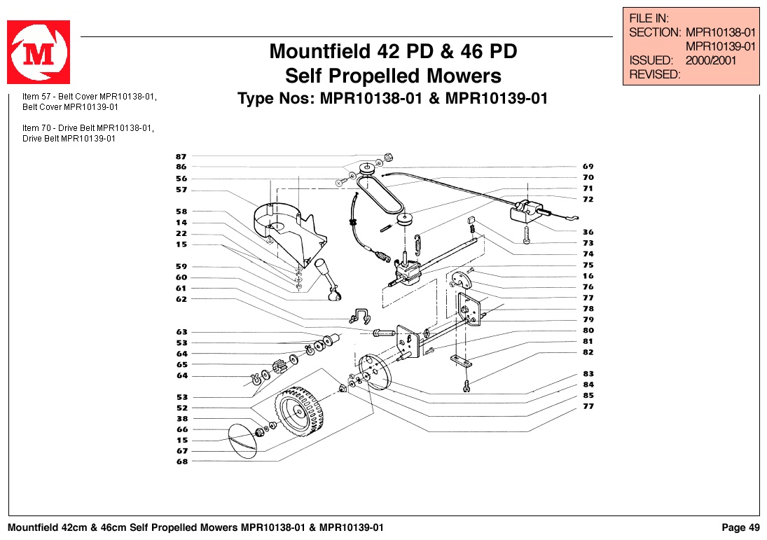 Mountfield 42 Pd Lawnmower Spares Year