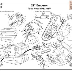 Qualcast Classic 35s Parts Diagram Semi Trailer Pigtail Wiring Mp83306 Mp83307 Mountfield Emperor 21 Machine For Spare Spares And