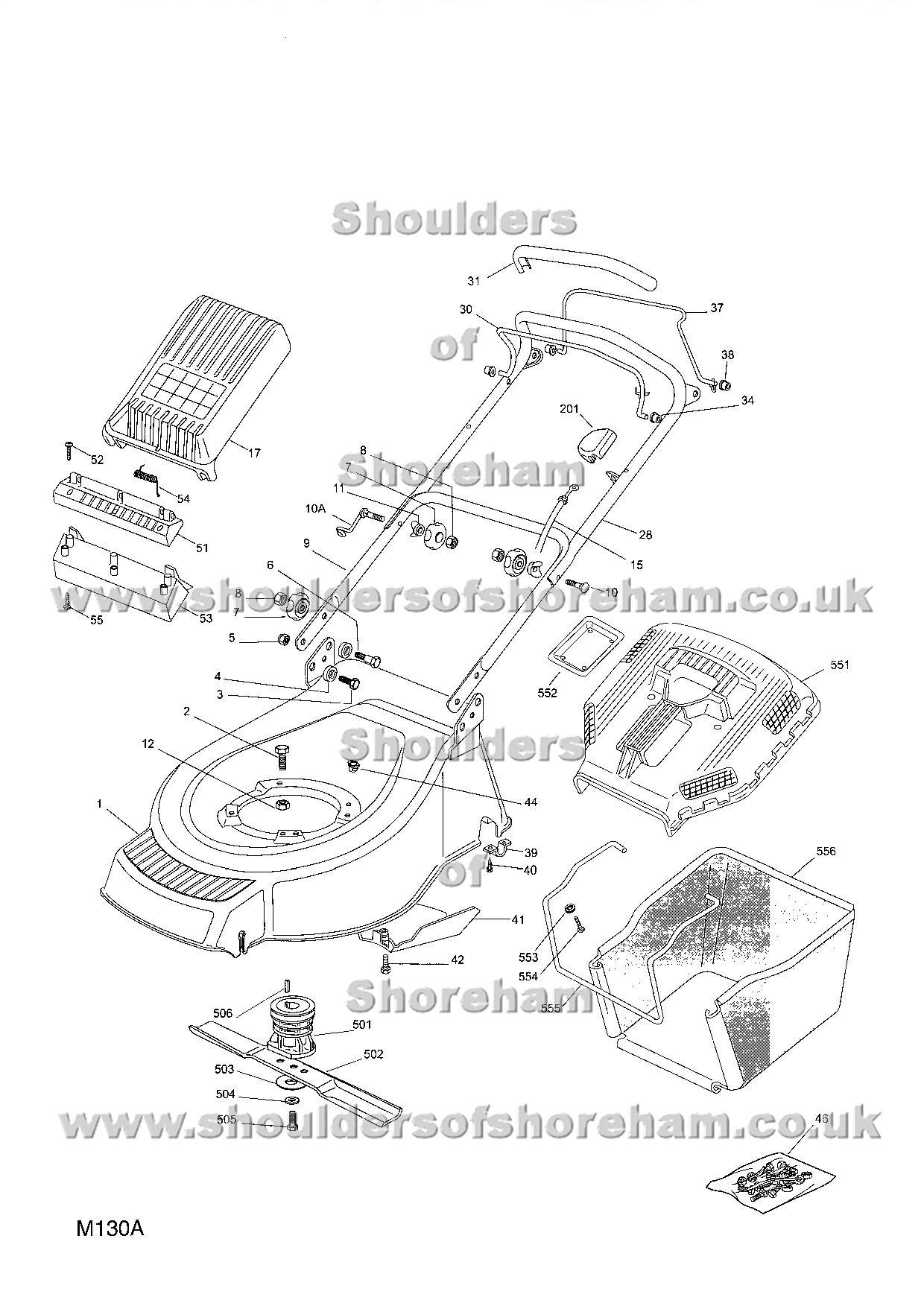Mountfield Sp 530 Art No 23 84 Spares Diagram