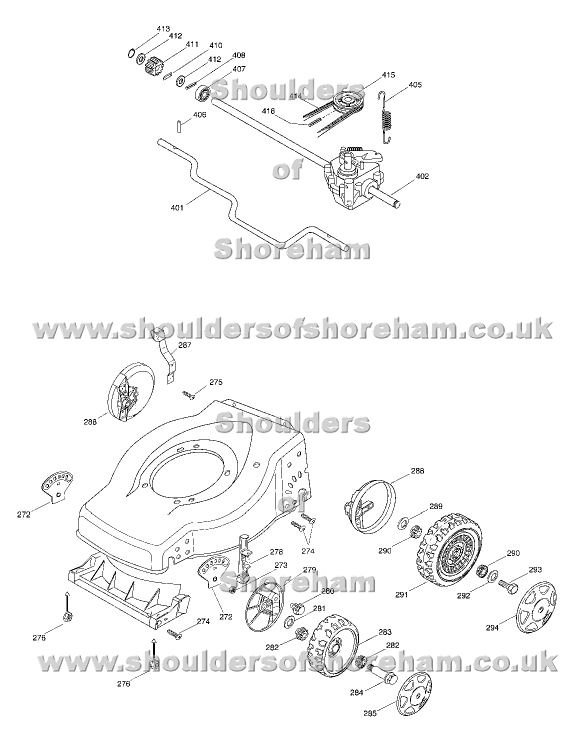Mountfield SP 470 24-3881-01 Spares Diagram Year 2005