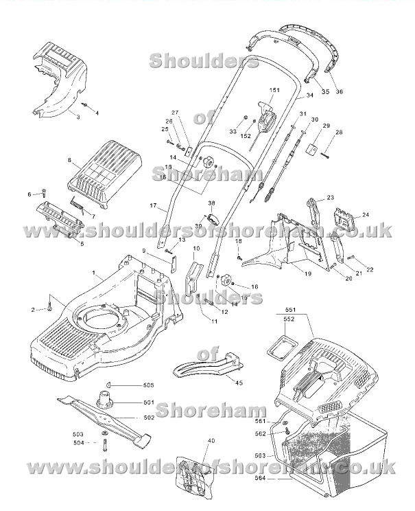 Mountfield M4 HP 12-5586-82 Spares Diagram 2005 Spare