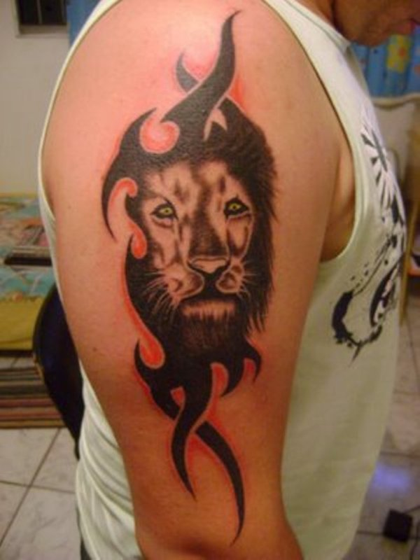 20 Tribal Lion Arm Tattoos Ideas And Designs