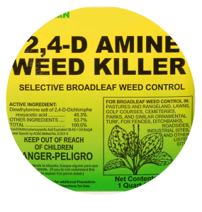 2,4-D Amine Weed Killer Label