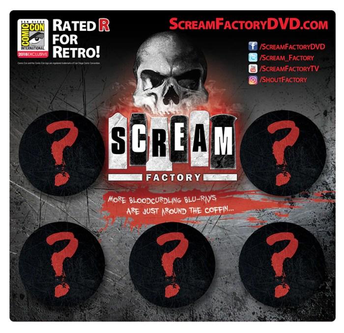 Scream Factory Button Pack
