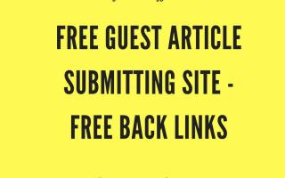 Free-Guest-Article-Submission