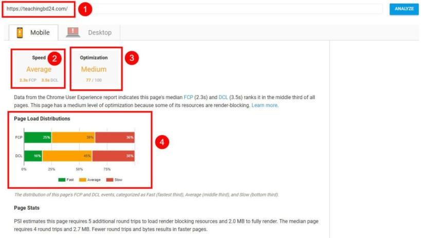 Google New Page Speed Insights