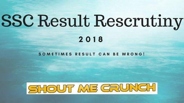 SSC Rescrutiny 2018