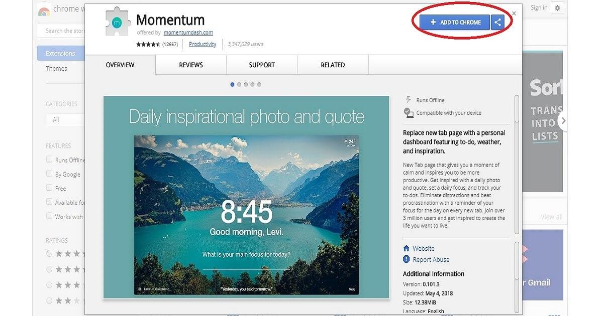 Momentum Screenshot