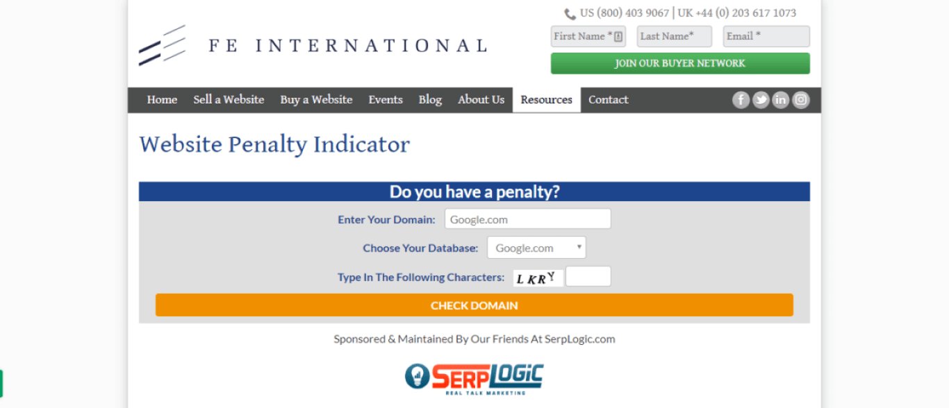 website penalty indicator