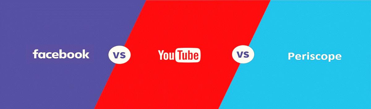 facebook youtube periscope