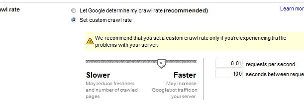 site crawl rate