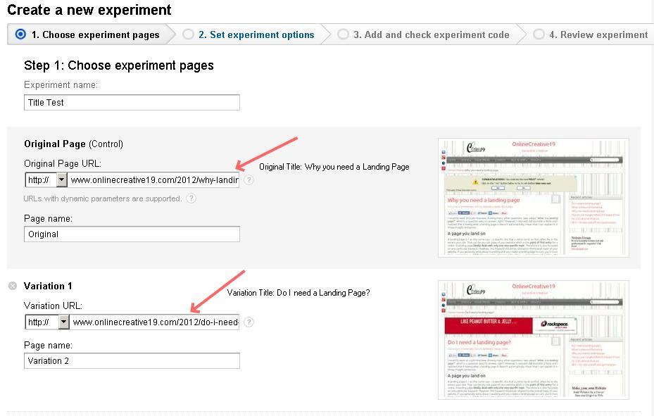 How to do an A/B split test with Google Analytics