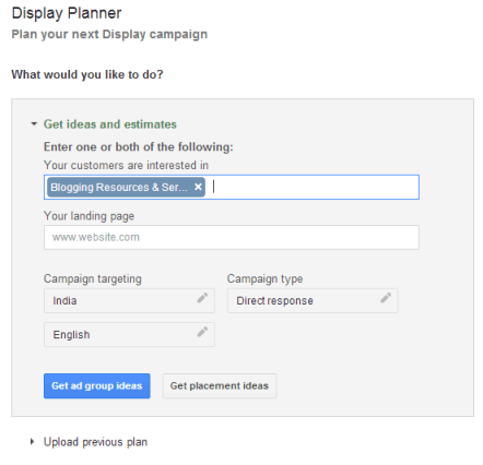 Google display planner
