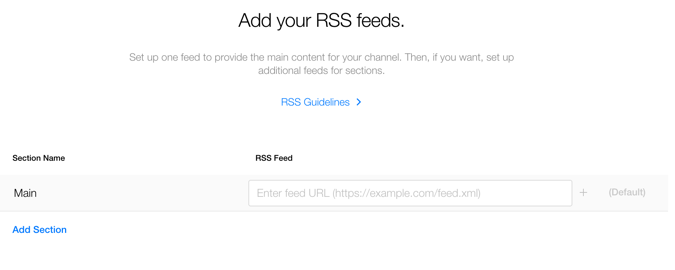 Add RSS feed to Apple