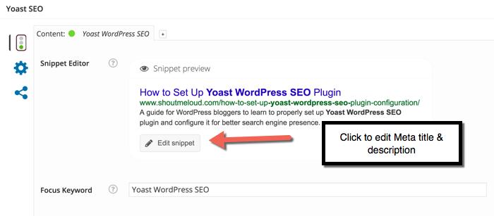 Configuring Yoast WordPress plugin