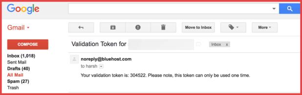 Bluehost-Validation-token-