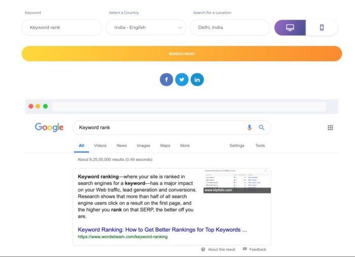 Google Keyword Rankings