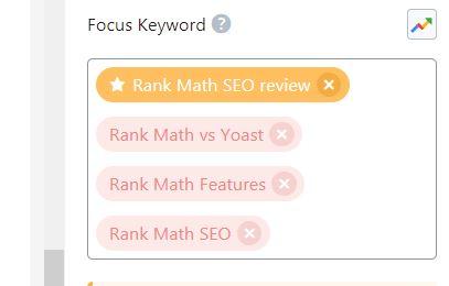 Rank Math Keyword
