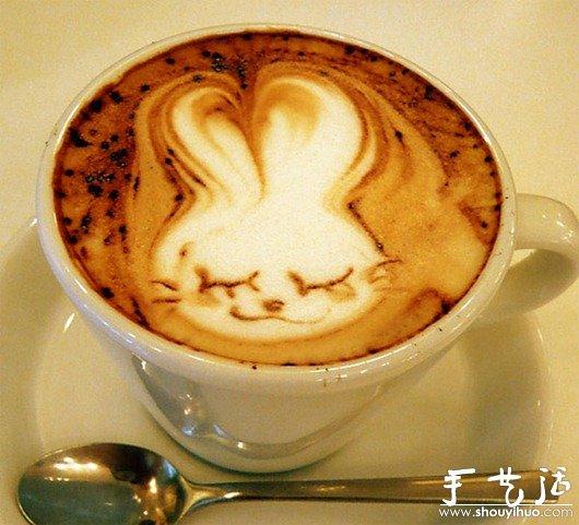 可愛咖啡拉花_手藝活網