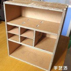 Kitchen To Go Cabinets Sprouted Book 纸箱废物利用手工制作好用的柜子的过程图解_手艺活网