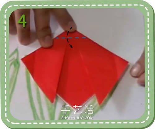 簡單容易學!兒童手工折紙郁金香的視頻教程_手藝活網