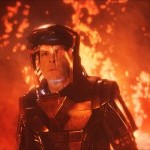 Spock in flames