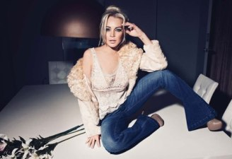 Lindsay Lohan at JAG Jeans Photoshoot