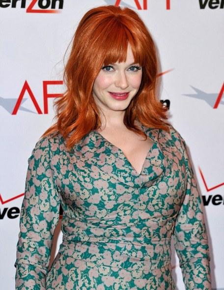 christina hendricks at AFI Awards-Showbizbites