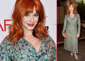 Christina Hendricks's Fashion Mishap – Unflattering Frock at AFI Awards