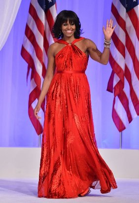 michele obama at inauguration-showbizbites