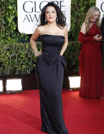 salma hayek at golden globes-showbizbites