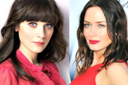 Zooey Deschanel and Emily Blunt