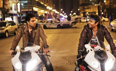 Abhishek Bachchan, Uday Chopra in Dhoom 3 Movie Stills