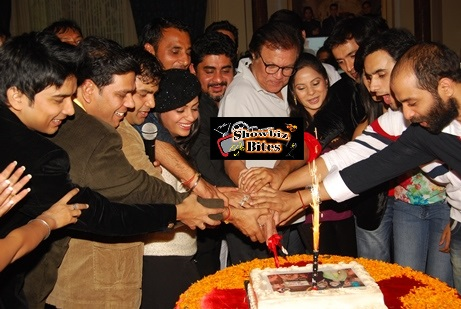 Cake cutting after first episode telecast