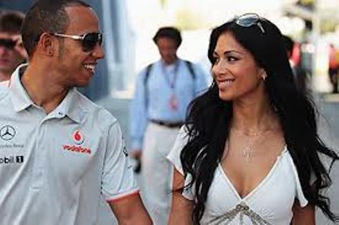 Nichole Scherzinger and Lewis Hamilton
