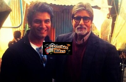 Shard with Amitabh on Bhootnath Sets-01